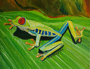 Tiny Tree Frog Prints - Tree Frog Traction Print by Julie Brugh Riffey