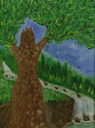 Goddess Mythology Paintings - Tree Goddess by Heidi Feather