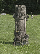 Headstones Prints - Tree Headstone Print by Andrew Govan Dantzler
