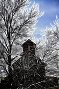 Kinkade Style Photo Posters - Tree House Poster by Steve McKinzie