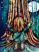 Tree Hugs Print by Karin Taylor