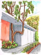 Grey Clouds Originals - Tree in U in Hollywood Hills - California by Carlos G Groppa