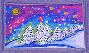 First Snow Drawings Prints - Tree Line by jrr Print by First Star Art