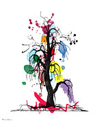 Cute Cartoon Art - Tree by Mark Ashkenazi