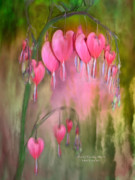 Romantic Art Print Framed Prints - Tree Of Bleeding Hearts Framed Print by Carol Cavalaris