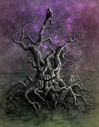 Creepy Digital Art Metal Prints - Tree of Death Metal Print by Rob Carlos