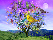Joy Art - Tree of Happiness by Alixandra Mullins