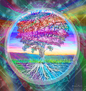 Tree Roots Mixed Media Prints - Tree of Life Print by Amelia Carrie