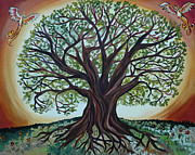 Tree Roots Painting Posters - Tree of Life Poster by Cedar Lee