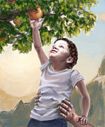 Child Jesus Posters - Tree of Life Poster by Cindy Elsharouni