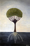 Tree Roots Mixed Media Prints - Tree of Life Print by Doreen Grace