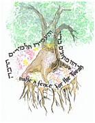 Tree Roots Mixed Media Prints - Tree of Life Print by Elazar Weiner