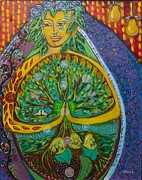 Sacred Feminine Paintings - Tree of Life by Havi Mandell