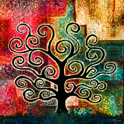 Abstract Art On Canvas Prints - Tree Of Life Print by Jaison Cianelli