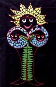 Sun Tapestries - Textiles Originals - Tree of Life by Kruti Shah