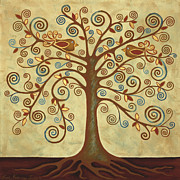 Tree Roots Paintings - Tree of Life by Lisa Frances Judd
