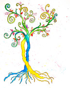 Tree Roots Paintings - Tree of Life by Lynne Furrer