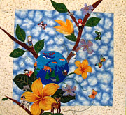Featured Tapestries - Textiles Originals - Tree Of Life by Maureen Wartski