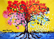 Destiny Painting Prints - Tree of Life Print by Ramona Matei