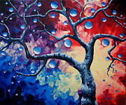 Bold Abstact Paintings - Tree of Life by Shiela Gosselin