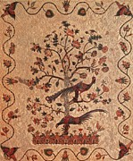 Reproduction Tapestries - Textiles Posters - Tree of Life With Birds Poster by Artist Unidentified