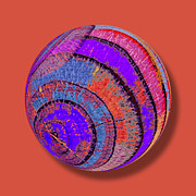 Ring Mixed Media - Tree Ring Abstract Orb by Tony Rubino