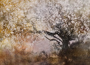 Seasonal Digital Art Metal Prints - Tree Whispers Metal Print by Amy Weiss