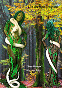 Paper Sculpture Posters - Tree Woman Poster by Gulalek Esenowa
