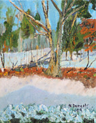 Michael Daniels - Trees and Snow Plein Air