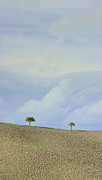 Italian Landscapes Prints - Trees in Val DOrcia Tuscany Italy Print by Robert Leon