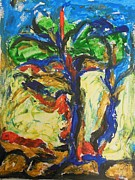 Watercolorist Painting Originals - Trees Standing Tall by Esther Newman-Cohen