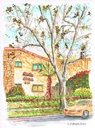 Urban  Drawings Paintings - Trees without leaves in Hollywood-California by Carlos G Groppa