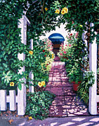 Trellis Paintings - Trellis Garden by Cheryl Del Toro
