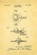 Tremulis Spaceship Hood Ornament Patent Art 1951 Print by Ian Monk