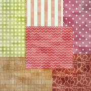 Tracie Kaska Mixed Media Prints - Trendy Patchwork Quilt Print by Tracie Kaska