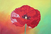 Trendy Poppy  Print by Tracey Harrington-Simpson