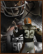 Trent Richardson Prints - Trent Richardson Guns Print by Tom Climes