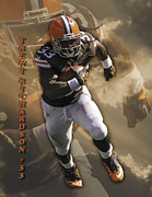 Trent Richardson Prints - Trent Richardson Print by Tom Climes