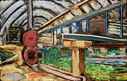 Barrel Pastels Prints - Trents Amazing Fish Farm Print by Tim  Swagerle