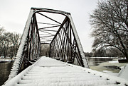 Winter Storm Prints - Trestle Bridge After Nemo Print by Deborah Smolinske