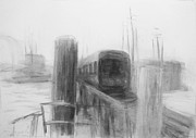 Poles Drawings - Trestle by Steve Dininno