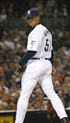San Diego Padres Posters - Trevor Hoffman Poster by Don Olea