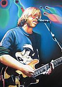 Lead Drawings Prints - Trey Anastasio and Lights Print by Joshua Morton