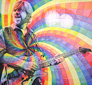 Musician Drawings Prints - Trey Anastasio Rainbow Print by Joshua Morton