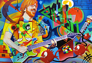 Famous Musicians Painting Originals - Trey Kandinsky  by Joshua Morton