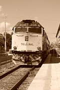 Train Digital Art Originals - Tri Rail 808 by Rob Hans