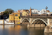 Seville Prints - Triana Bridge in Seville Print by Artur Bogacki