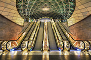 Triangeln Station Escalators Print by EXparte SE