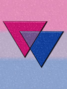 Queer Posters - Triangles Symbol - Bisexual Pride Flag Poster by Tavia Walker