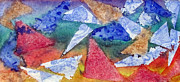 Drawing Painting Originals - Triangular Motion by Jeanne Ward